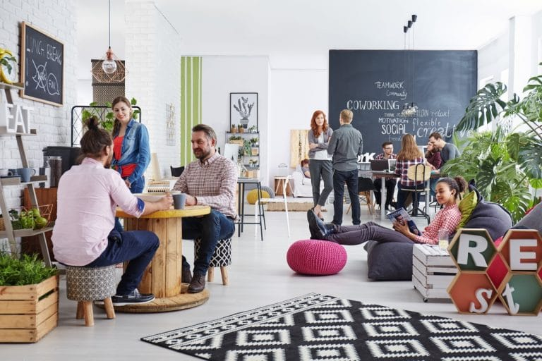 People in a working space